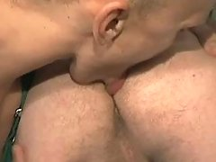 Gay worker licks males anus and sucks cock