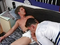 Naughty college guy cavernous throats dick