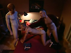 Lusty dad and stud share poor chap