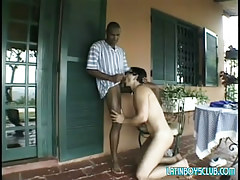 Black man-lover sucked by juvenile Chicano outdoor