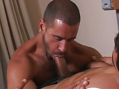 Mature male throats appetizing rod