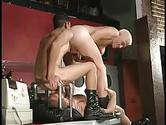Hairy man-lover stripper keen to to gain rimmed in 2 video
