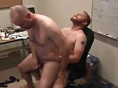 Matured man-lovers pooch mcgee and david marx realize office place to bang in 5 clip